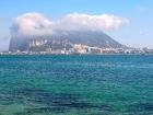 """Gibraltar und der typische Sahara-Wind \""""Levante\"""""""