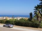 Blick über ddie Stadt und das Meer