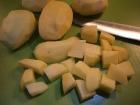 Kartoffeln schälen und würfeln...