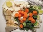 Gemüse grob zerkleinern