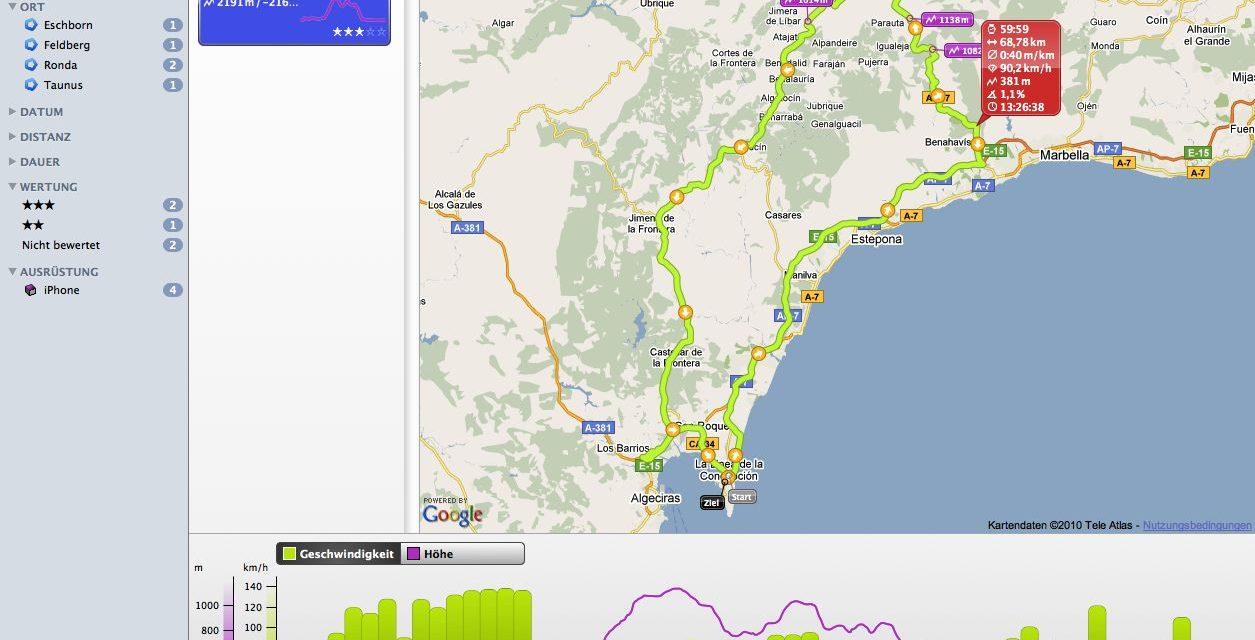 GPS Trackrecording