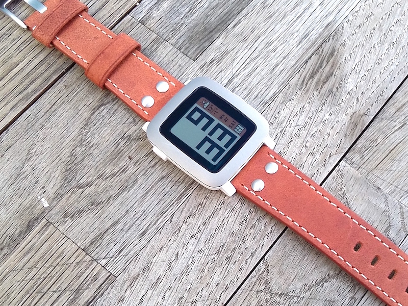 Mein Favorit: die Pebble Time mit einem Vintage Armband von Eichmüller (WF:
